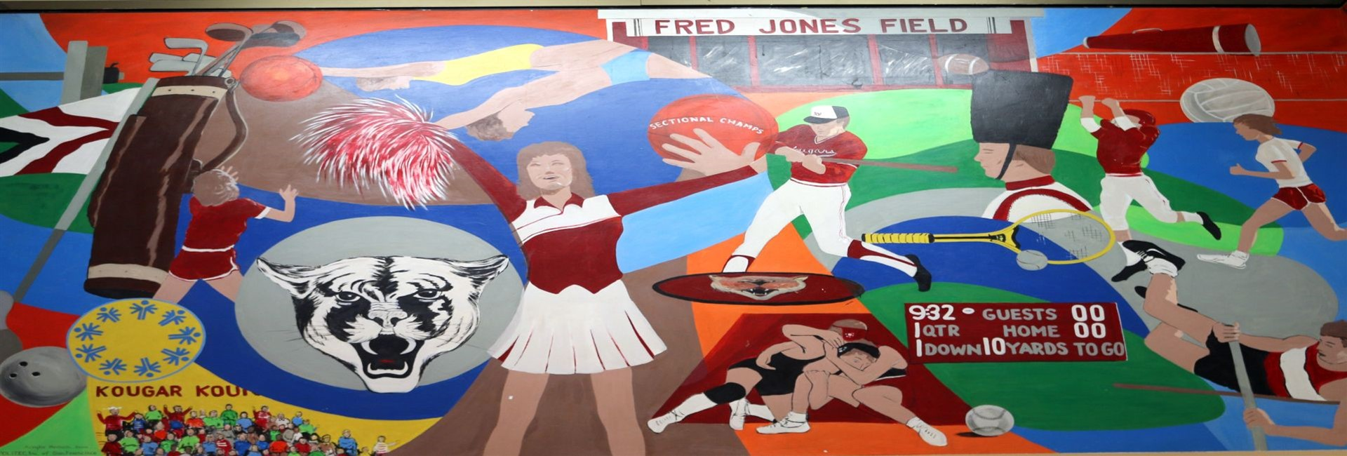 Kankakee Valley High School lobby mural