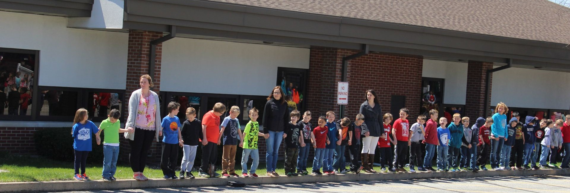 Wheatfield Students showing honor and respect