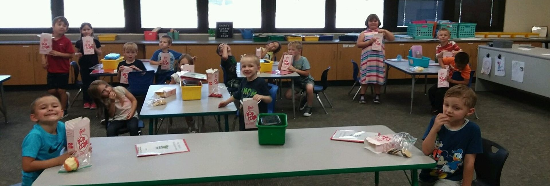 Mrs. DeBoer's class on popcorn day