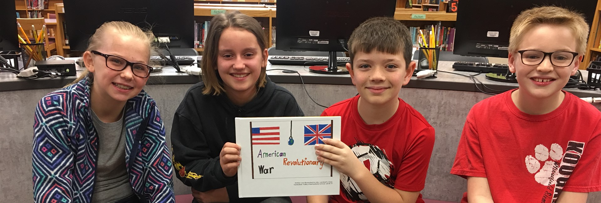 Mrs. Lambert's Students with their American Revolution Book