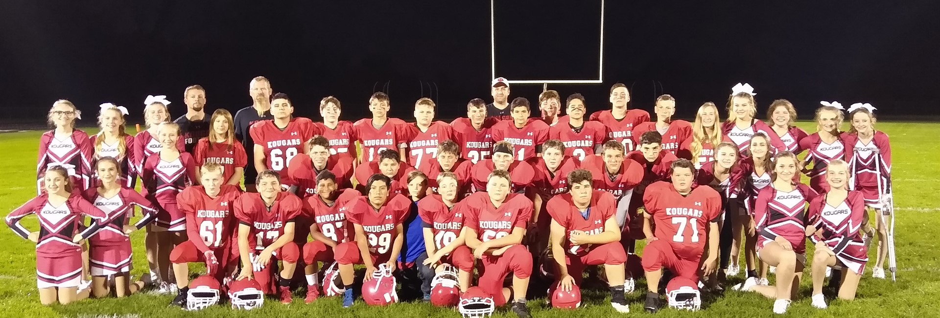 KVMS Undefeated 7th Grade Football Team