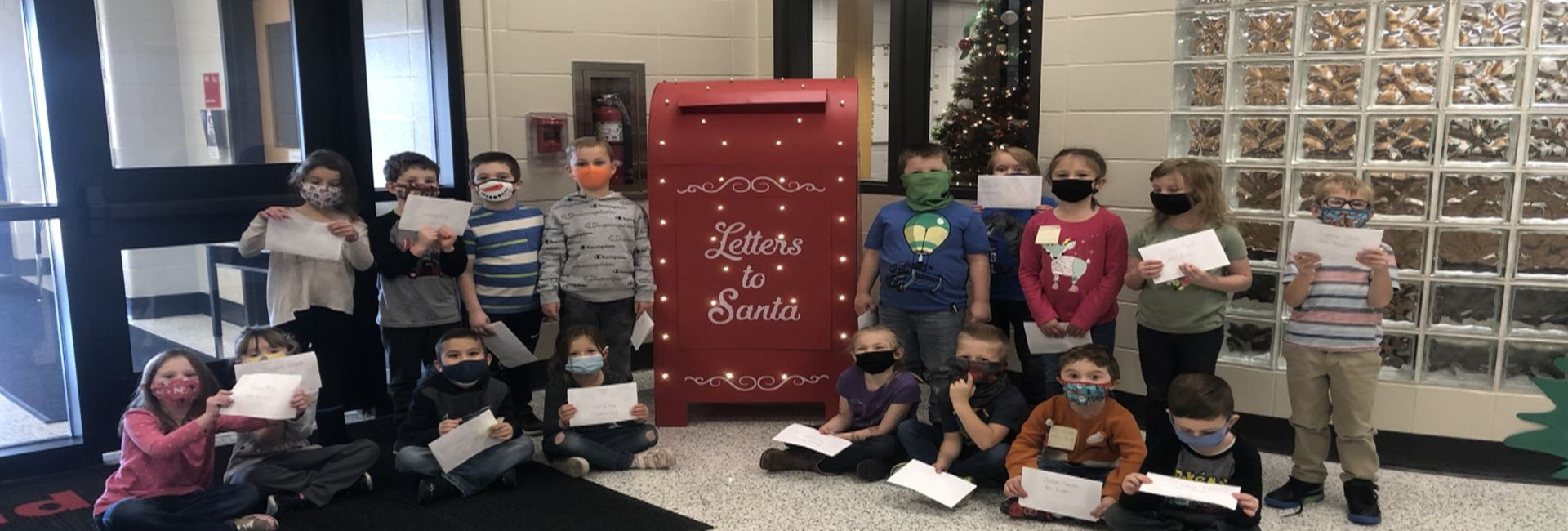 Mrs. Bucher's KDG Class wrote letters to Santa here at WES