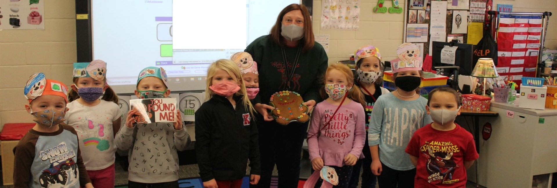Mrs. Abbring's class went on a Gingerbread Man hunt - they ended up finding him right back in their classroom - WES