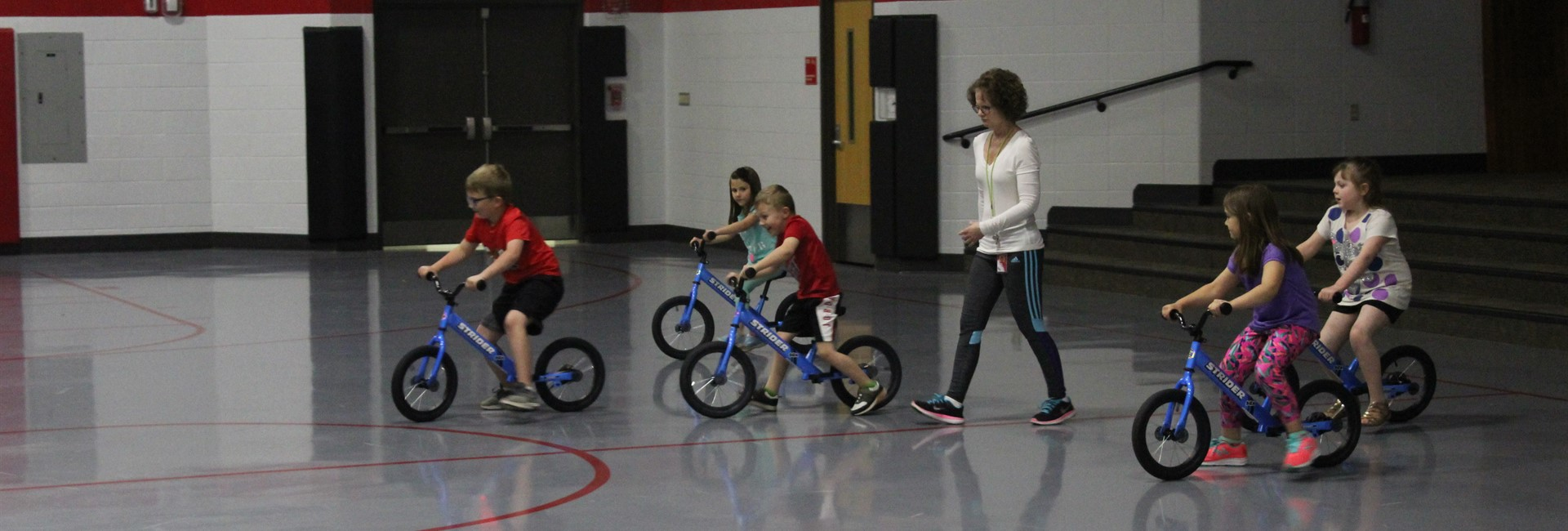 WES - Mrs. Dougherty's Kindergartners Work With New Bikes