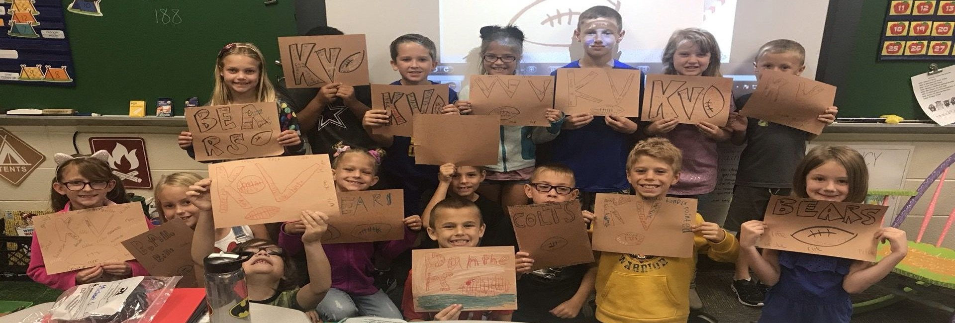 Mrs. Parks' Third Grade Class is Ready for Football Season