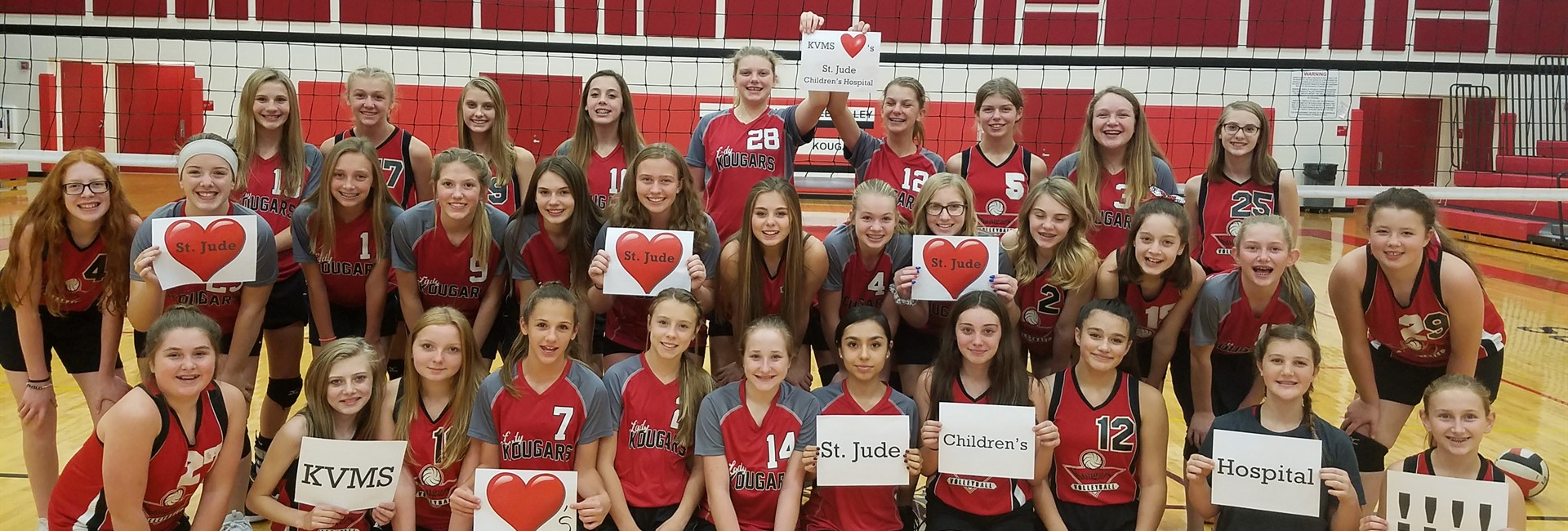 KVMS Volleyball Dig Pink Night for St Jude's Hospital