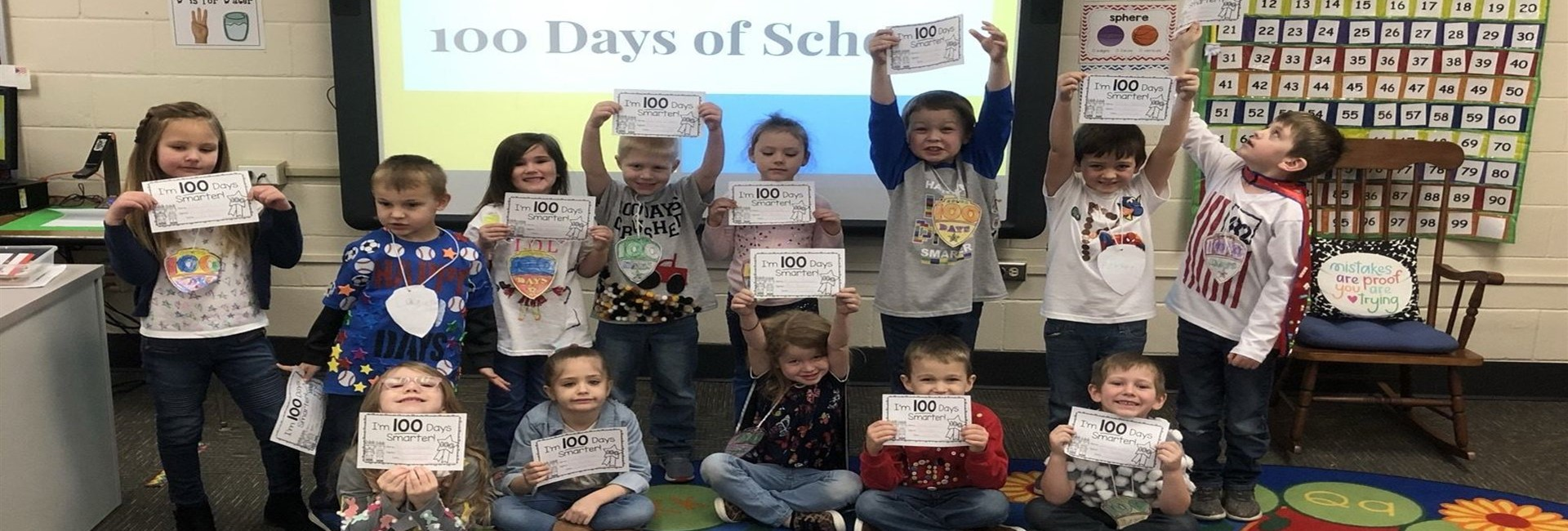 Mrs. Bucher's Class at WES Is Feeling 100 Days Smarter