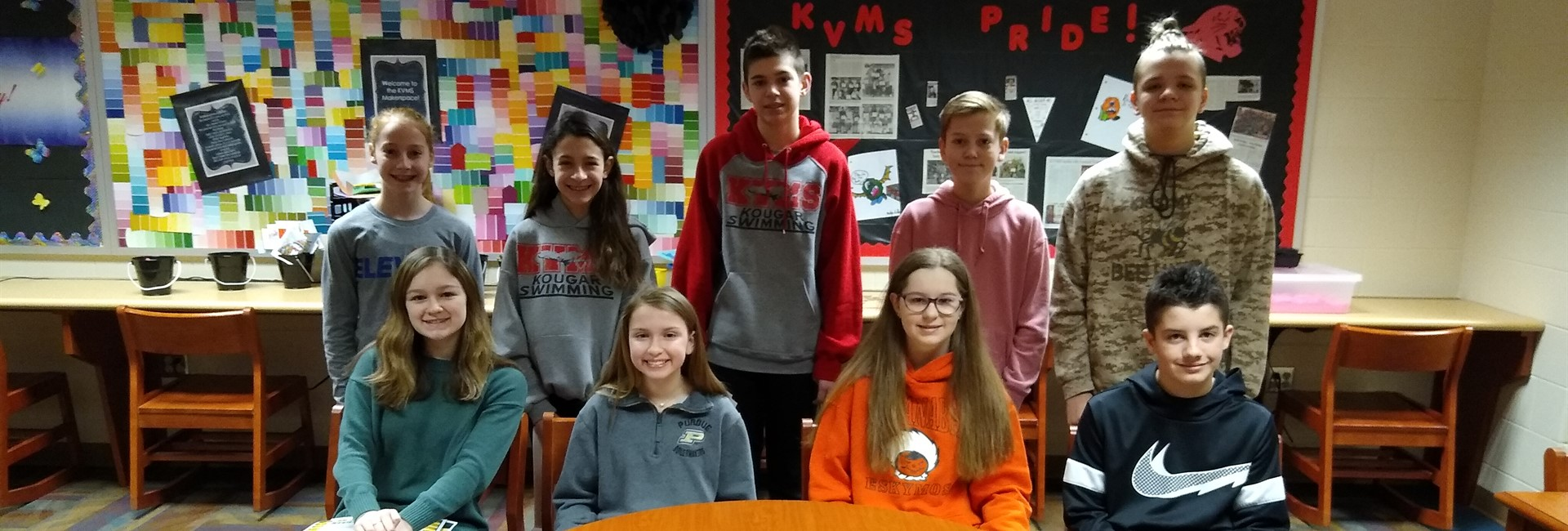 KVMS February 2020 Students of the Month