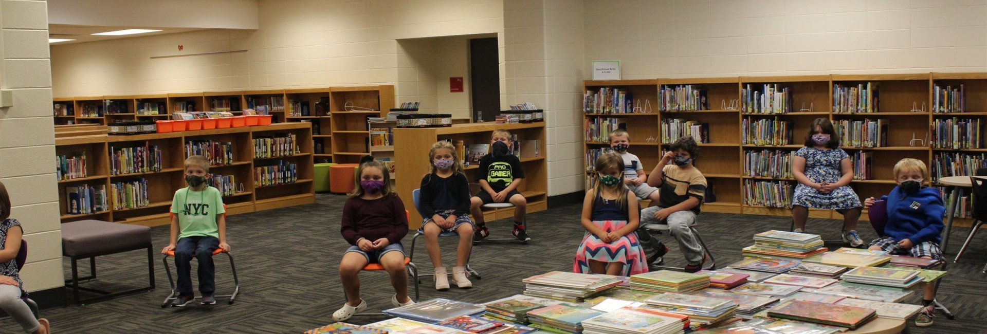 Media Center - where we love to check out books here at WES.